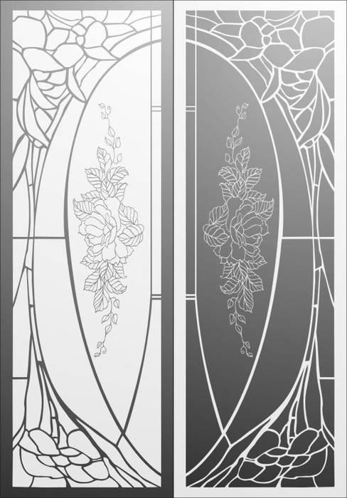 Матирование стекла Витражный рисунок