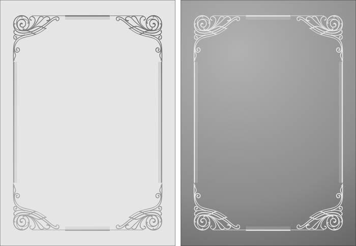 Матирование стекла Рамка