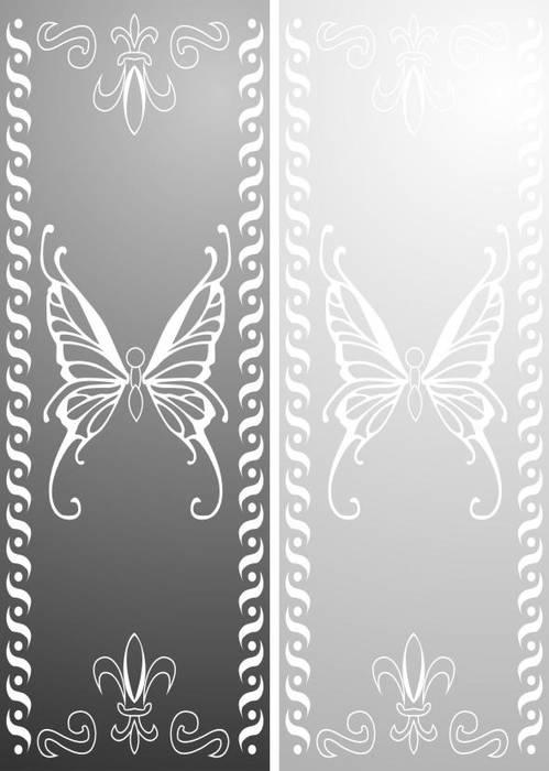 Матирование стекла Бабочка