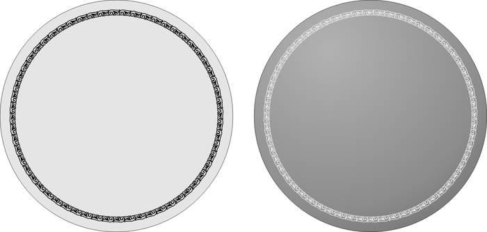 Матирование стекла Круглая рамка