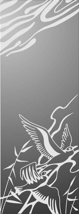 Матирование стекла Птицы