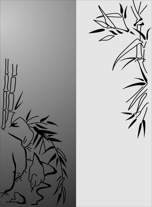 Матирование стекла Бамбук
