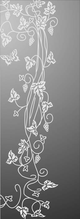 Матирование стекла Виноградная лоза