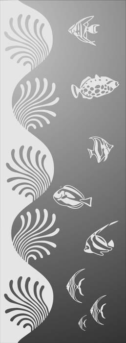 Матирование стекла Рыбки