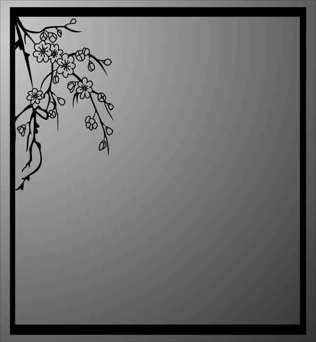 Матирование стекла Сакура