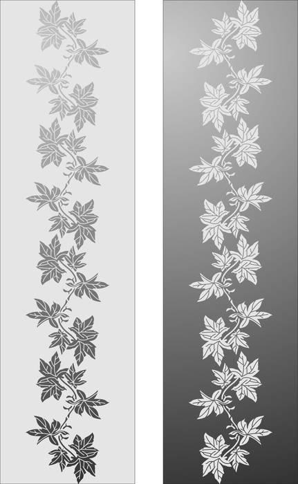 Матирование стекла Растительный узор