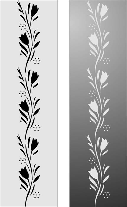 Матирование стекла Цветочный узор