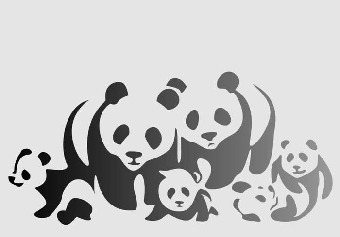 Матирование стекла Панды