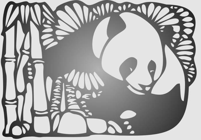 Матирование стекла Панда
