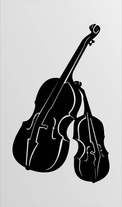 Матирование стекла Скрипки