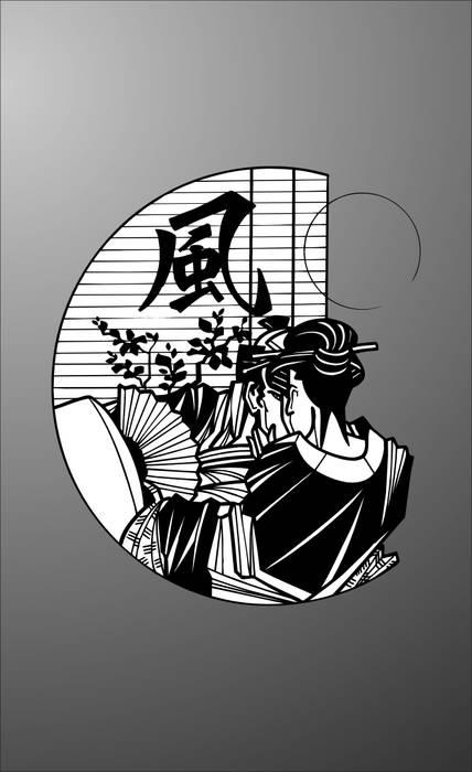 Матирование стекла Япония