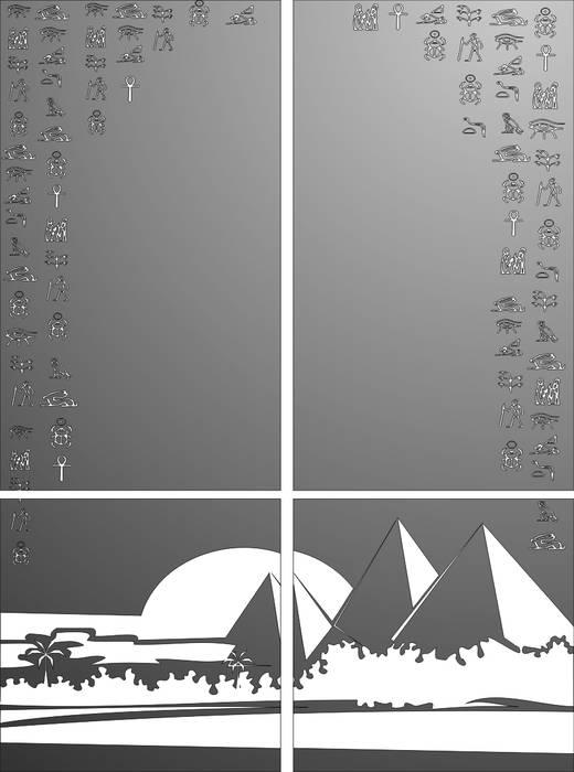 Матирование стекла Египетские пирамиды