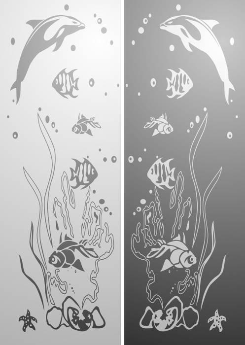 Матирование стекла Подводный мир