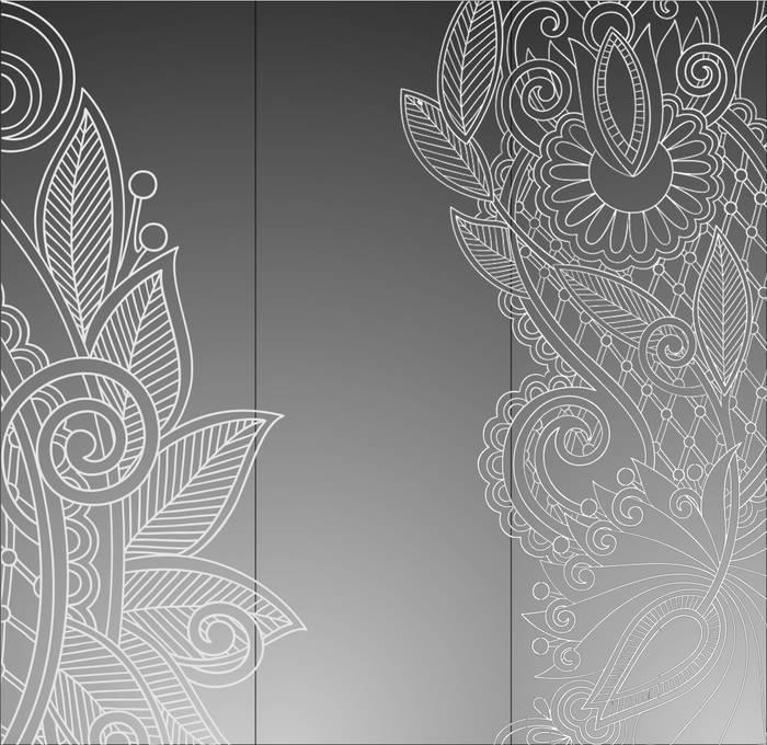 Матирование стекла Цветочная текстура