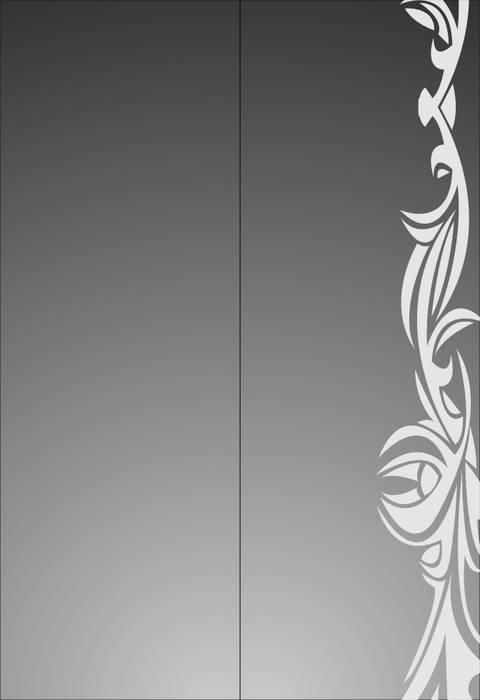Матирование стекла Абстракция