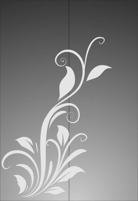 Матирование стекла Растение