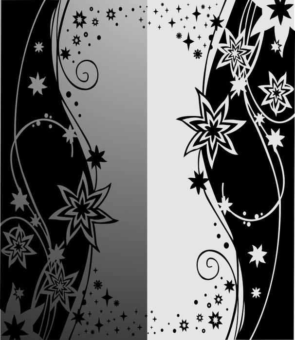 Матирование стекла Звезды