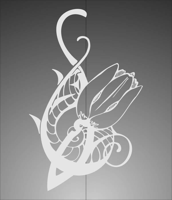 Матирование стекла Тюльпан