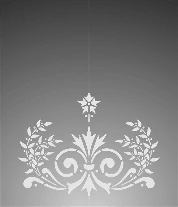 Матирование стекла Цветок
