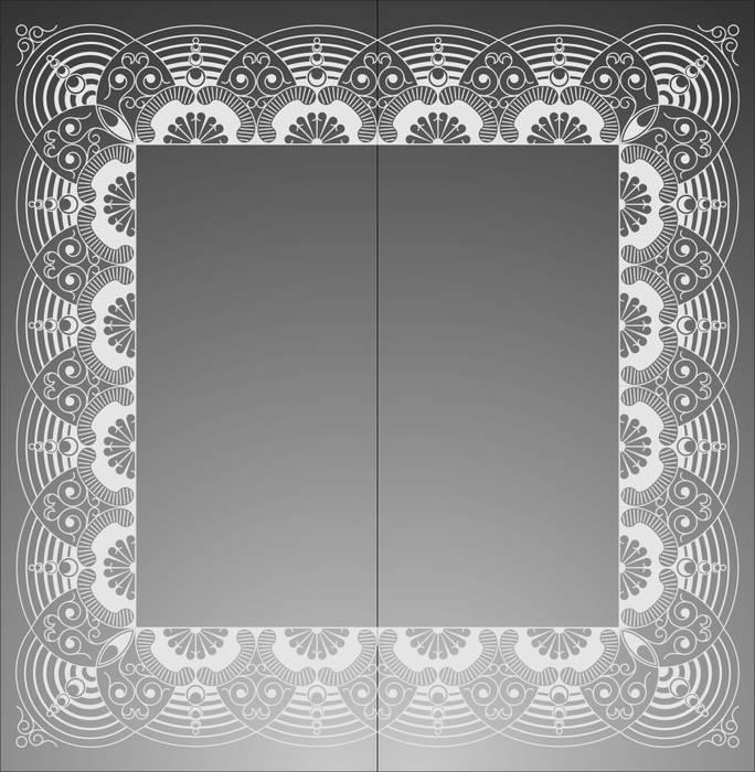 Матирование стекла Квадратная рамка