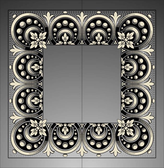 Матирование стекла дизайн 04579