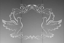 Матирование стекла Животные и птицы