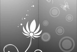 Цветок и бабочки