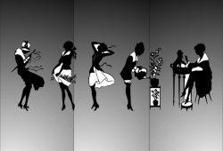 Силуэты девушек