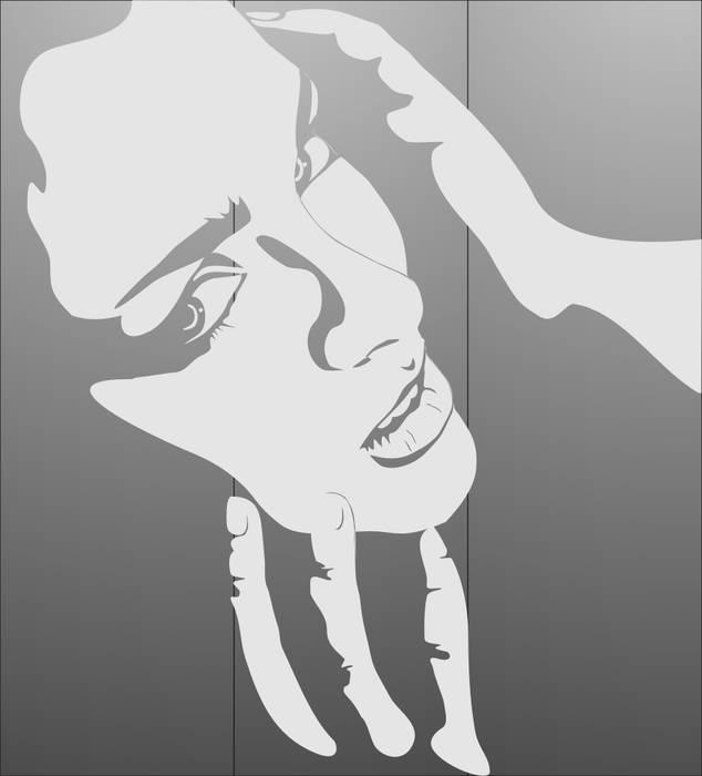 Матирование стекла Лицо девушки