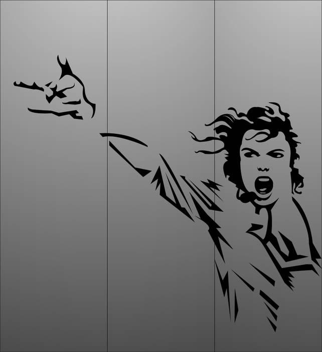 Матирование стекла Майкл Джексон