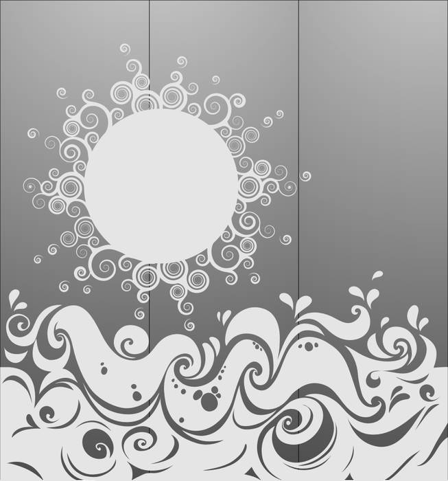Матирование стекла Солнце