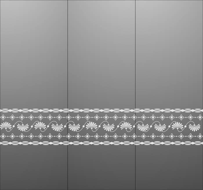 Матирование стекла Узор