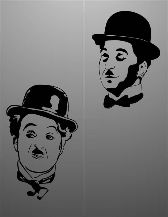 Матирование стекла Чарли Чаплин