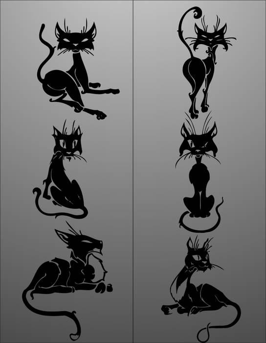 Матирование стекла Кот