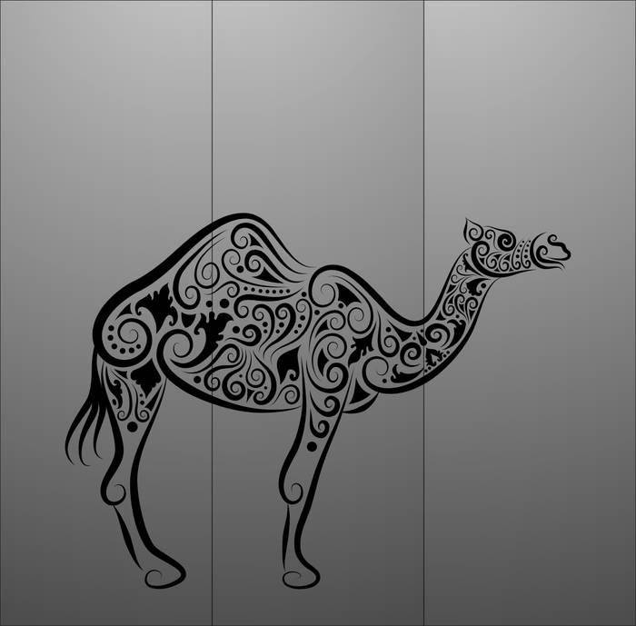 Матирование стекла Верблюд