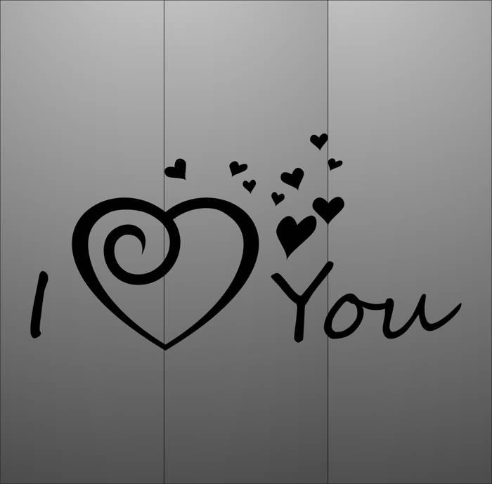 Матирование стекла Я тебя люблю