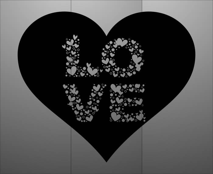 Матирование стекла Любовь