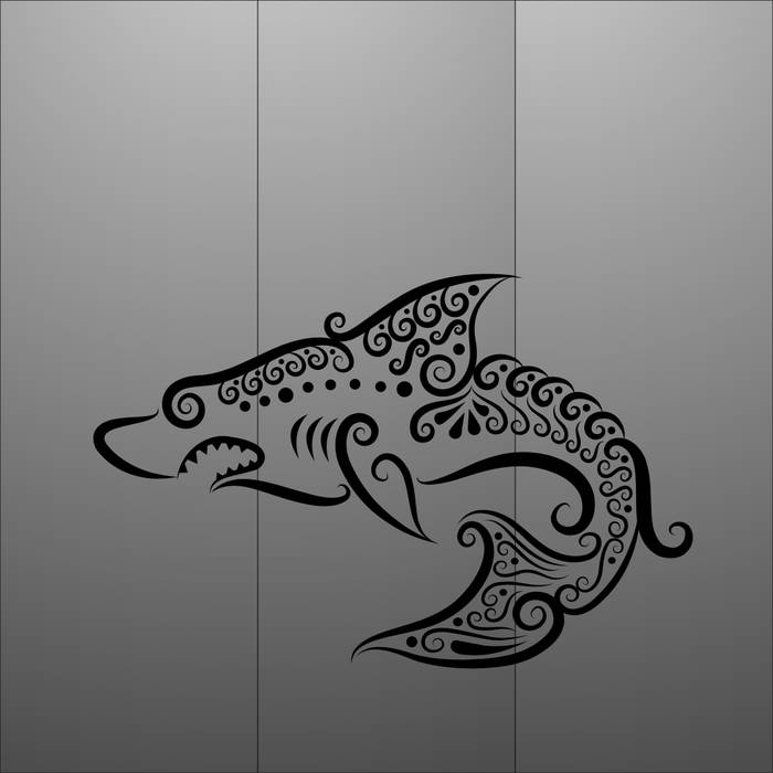 Матирование стекла Акула
