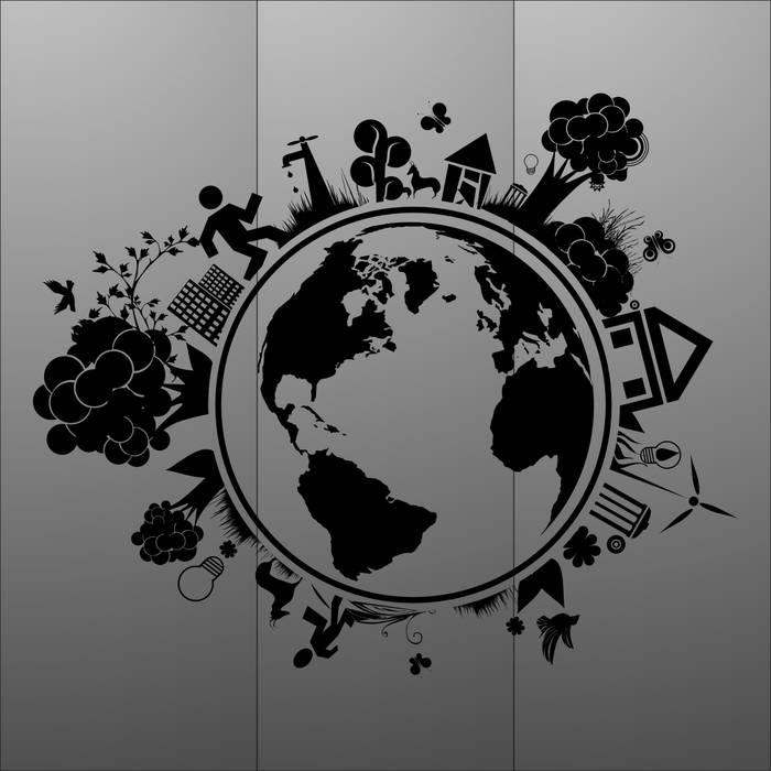 Матирование стекла Земля
