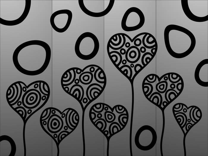 Матирование стекла Сердца