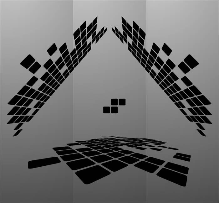 Матирование стекла Квадраты