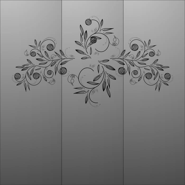 Матирование стекла дизайн 05383