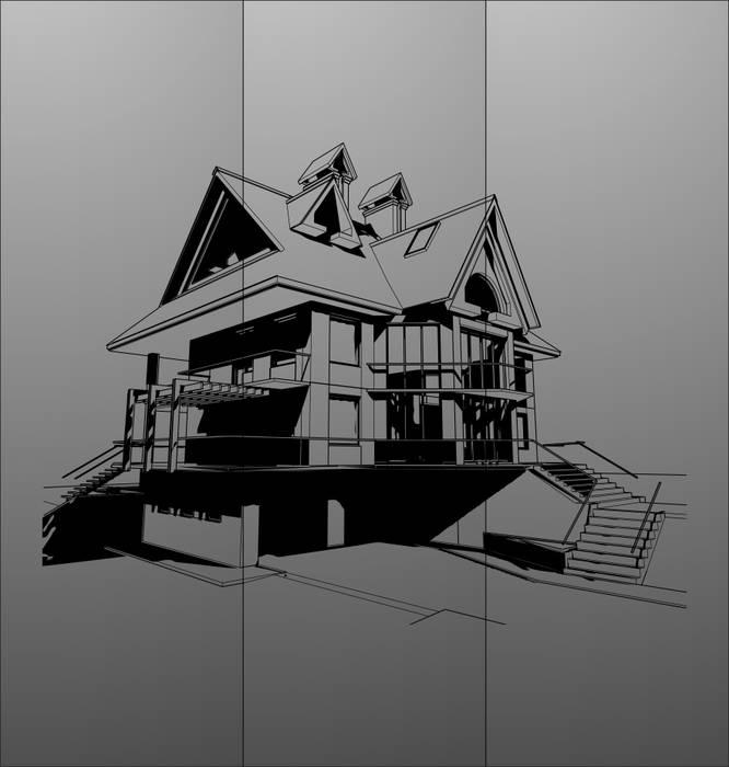 Матирование стекла Дом