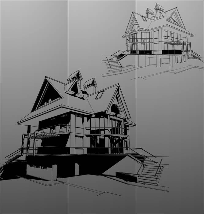 Матирование стекла Дома