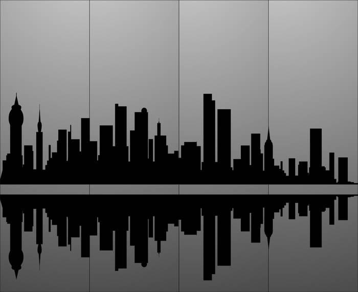 Матирование стекла Город