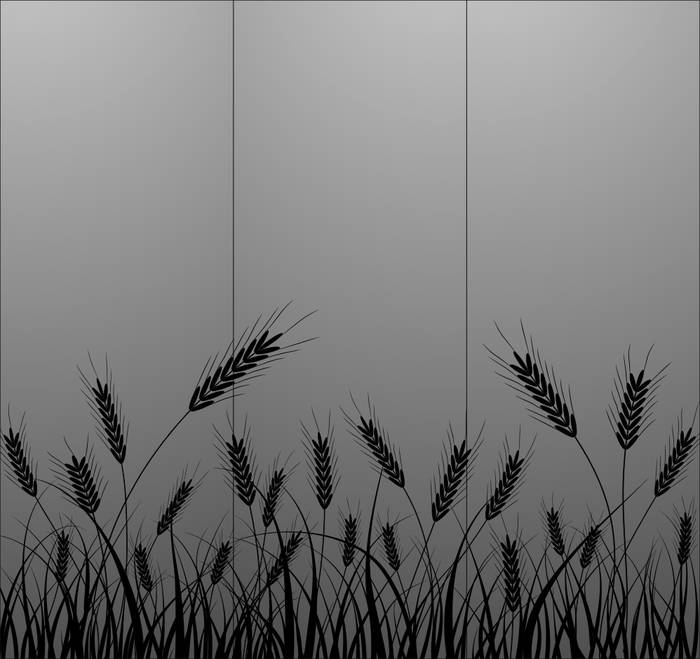 Матирование стекла Пшеница