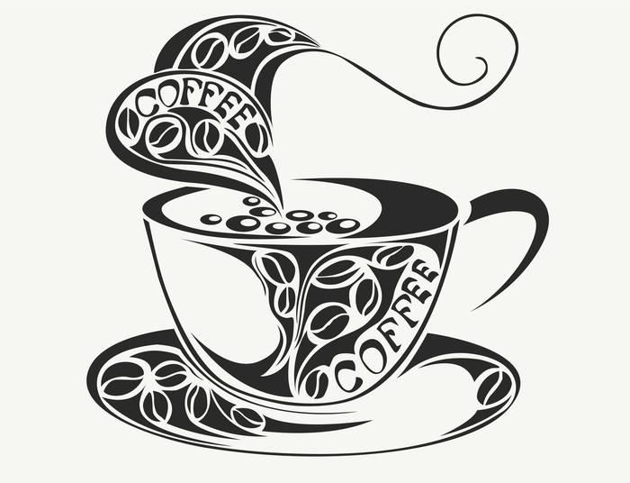 Наклейки Кофе