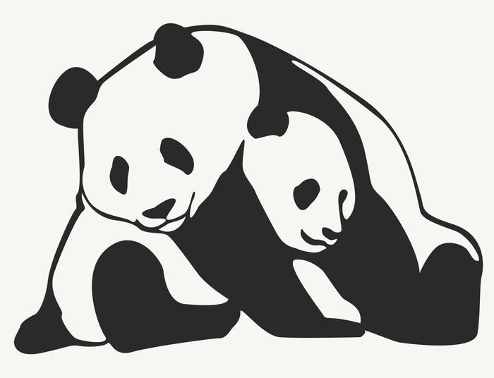 Наклейки Панды