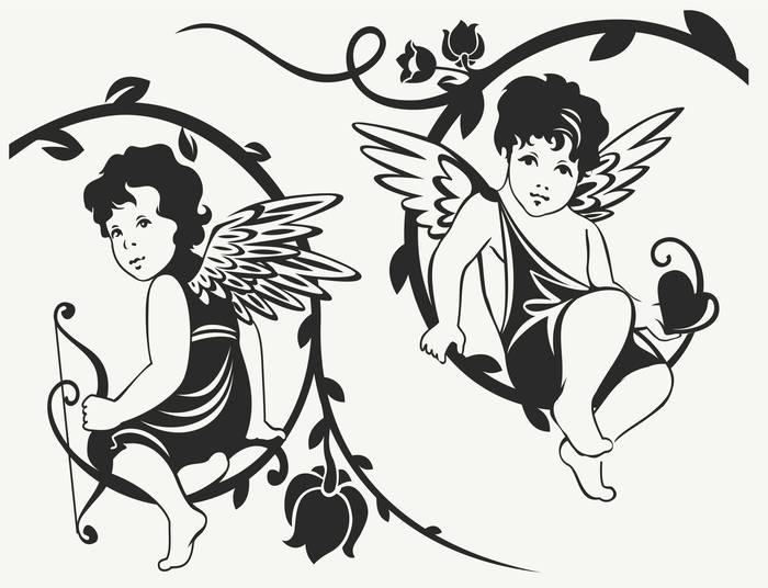 Наклейки Ангелы