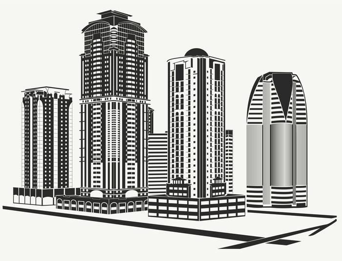 Наклейки Город